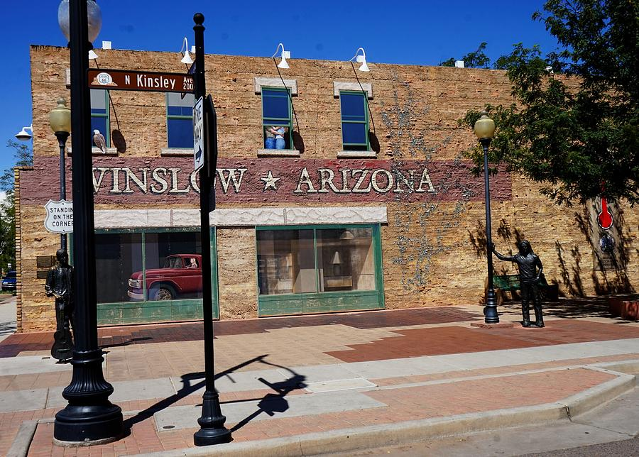 Standing On A Corner In Winslow Arizona by Barkley Simpson