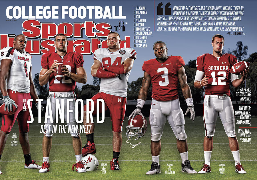 Stanford University Qb Andrew Luck, 2011 College Football Sports Illustrated Cover Photograph by Sports Illustrated