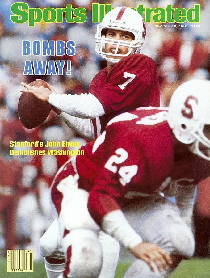 Stanford University Qb John Elway Sports Illustrated Cover Photograph by Sports Illustrated