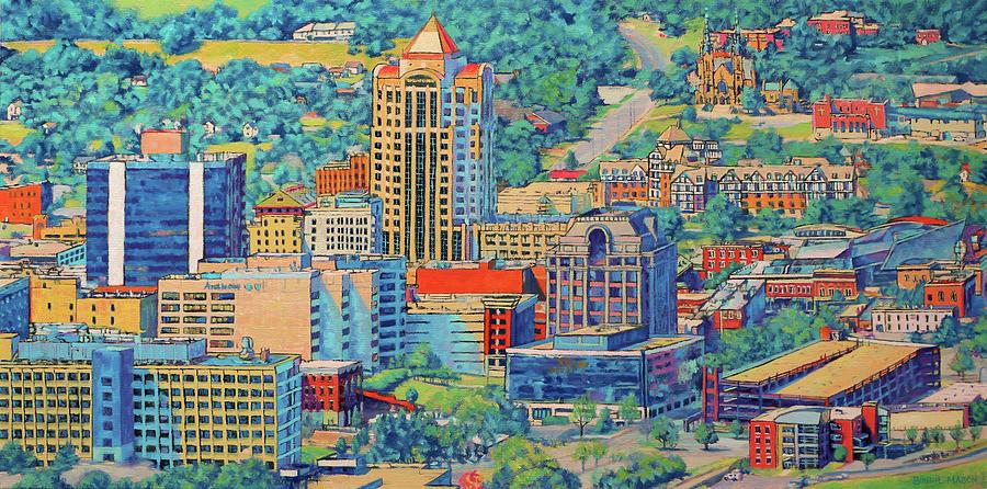 Roanoke Virginia Painting - Star City Of The South - Roanoke Virginia by Bonnie Mason