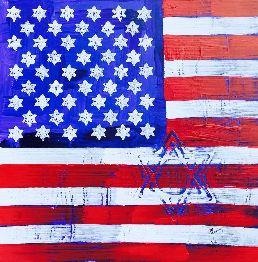 Star Of David American Flag Sod-13-18
