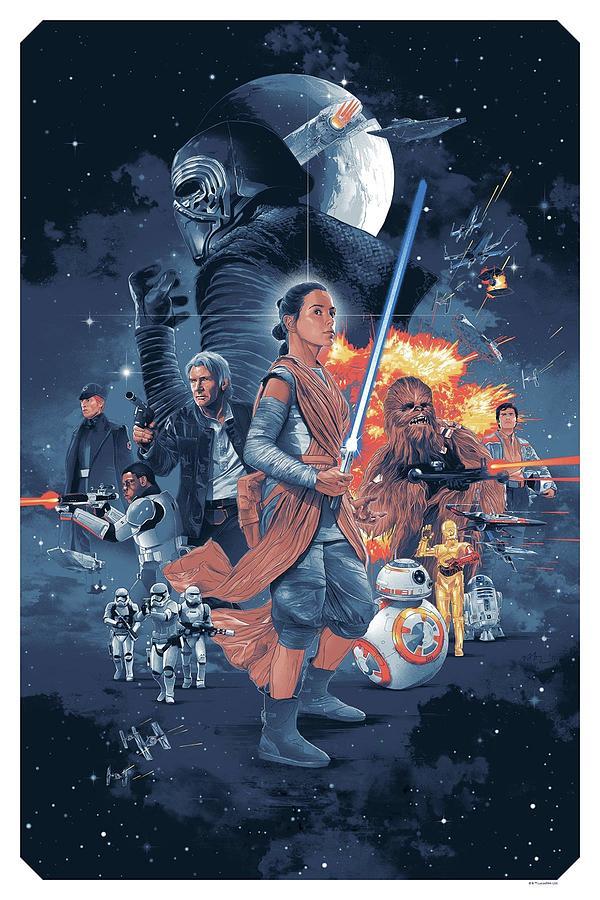 Star Wars Digital Art - Star Wars 9 by Geek N Rock