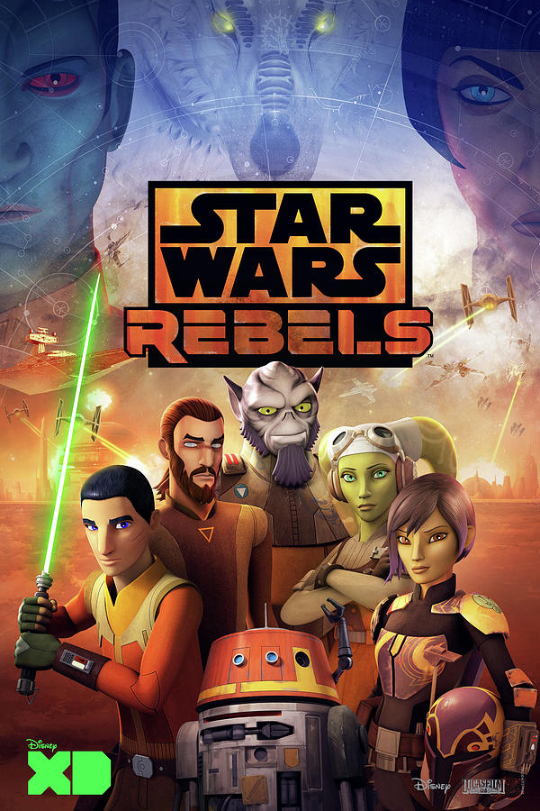 Star Wars Digital Art - Star Wars Rebels by Geek N Rock