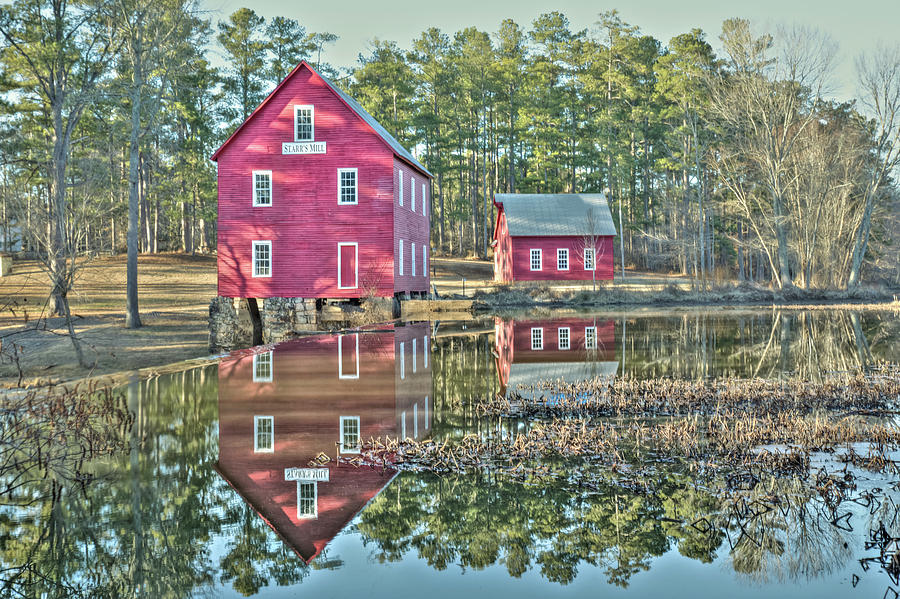 Starrs Mill In Fayetteville, Ga - Circa 1907, Bulit By William Photograph
