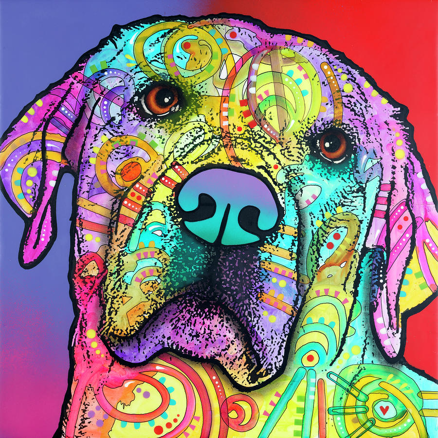 Animals Mixed Media - Starry Lab by Dean Russo