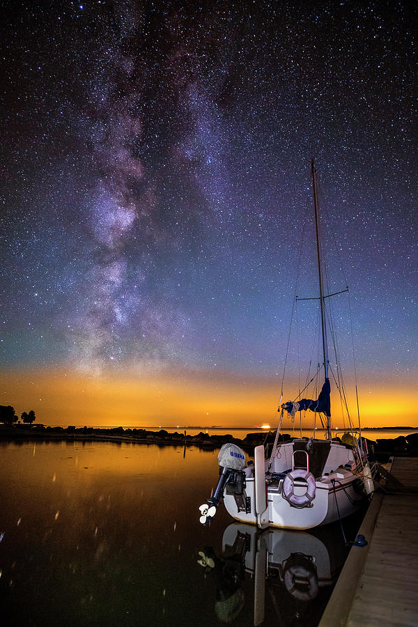 Starry Night At Cape Vincent by Mark Papke