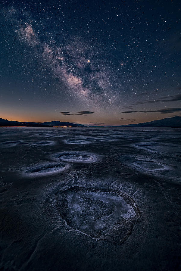 Starry Photograph - Starry Night At Death Valley by Lydia Jacobs