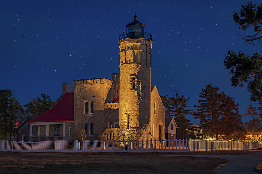 Starry Night At Old Mackinac Point Lighthouse  by Gary McCormick