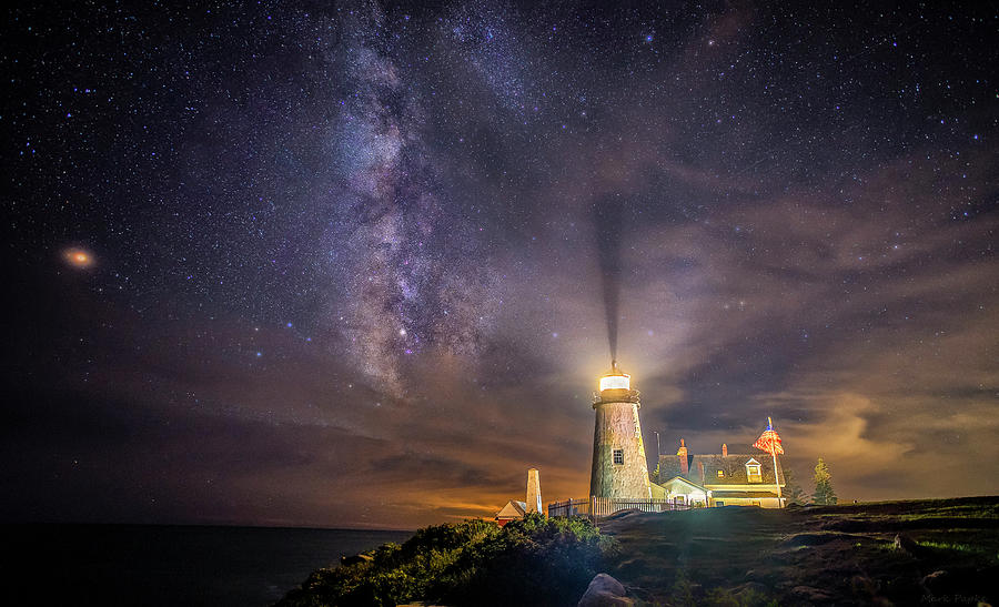 Starry Night at Pemaquid by Mark Papke