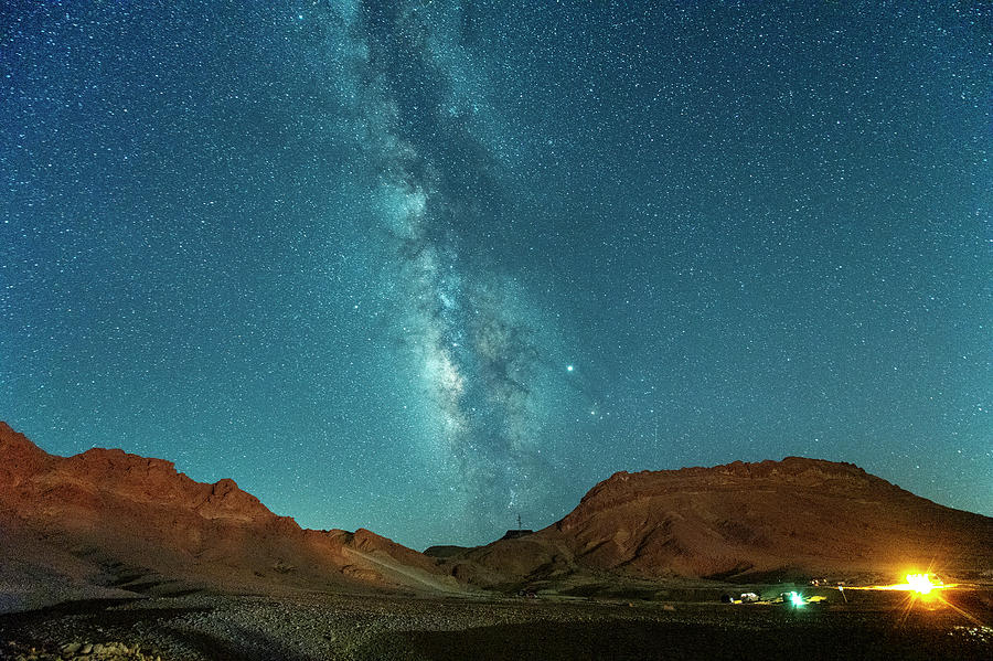 Starry Night at Ramon Crater 3 by Dubi Roman