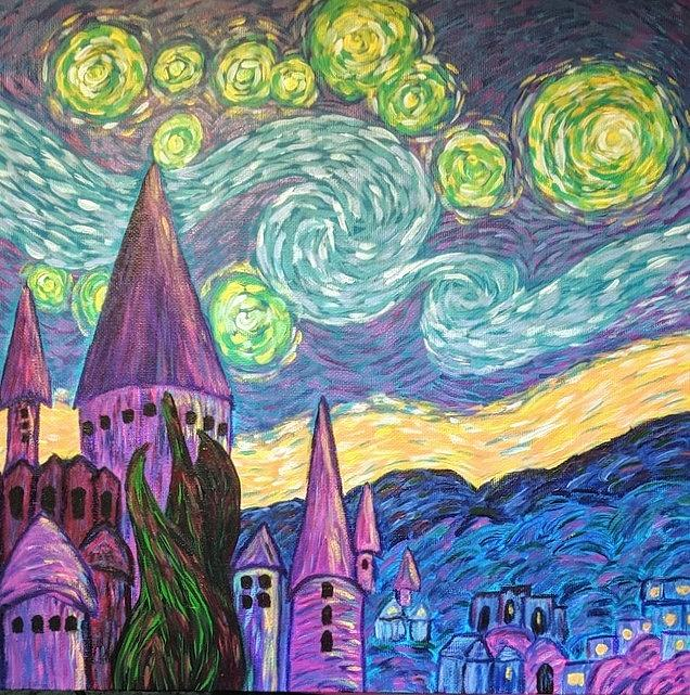 Starry Night Castles by Gail Friedman