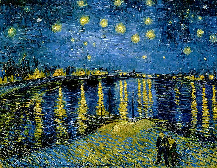 Vincent Van Gogh Painting - Starry Night - Digital Remastered Edition by Vincent van Gogh