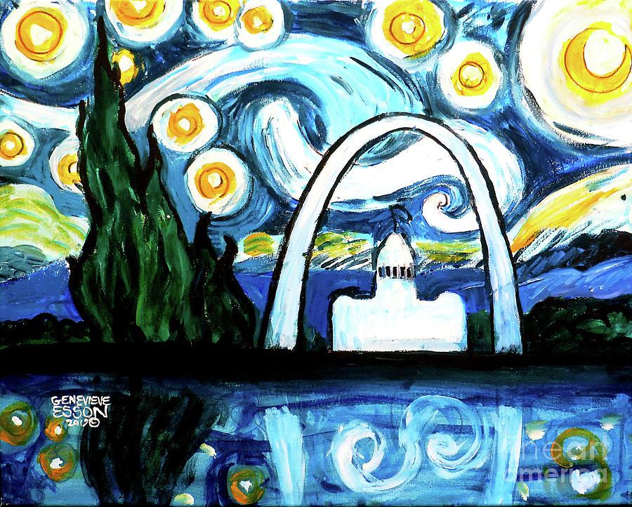Starry Night Gateway Arch by Genevieve Esson