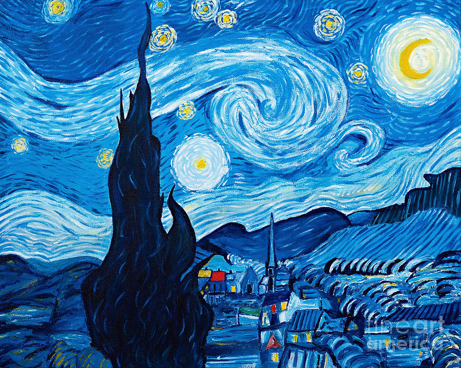 Starry Night - Homage to Van Gogh by Art by Danielle
