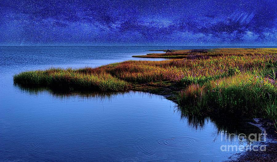 Starry Night on Ocracoke Outer Banks by Dan Carmichael