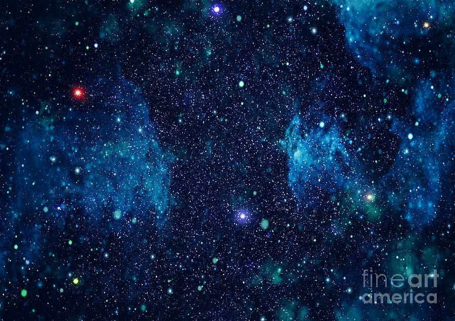 Deep Digital Art - Starry Outer Space Background Texture by Zakharchuk