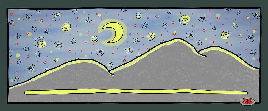 Stars Digital Art - Starry Starry Night by Susan Bird Artwork