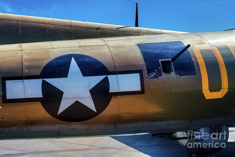 Star and Bar on a B-17 by Jon Burch Photography