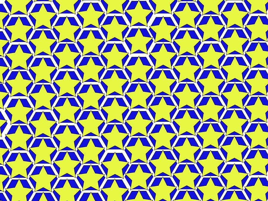 Stars and Hexagons blue by Andrew Williams