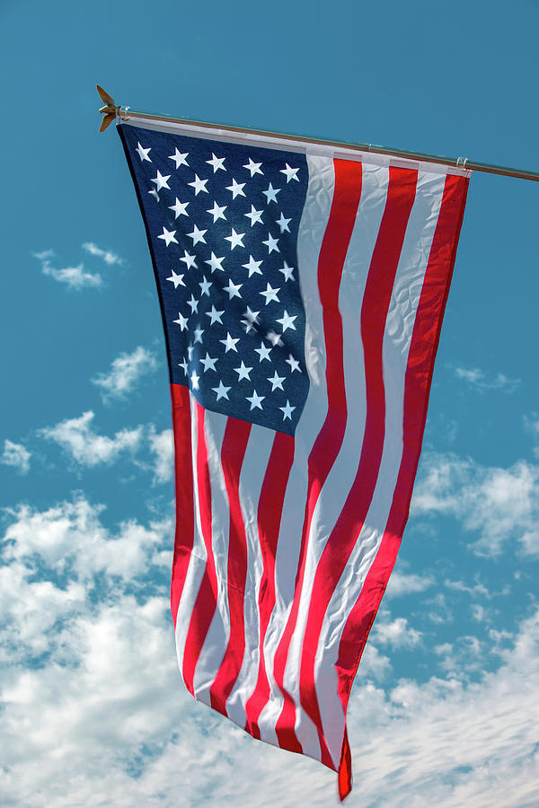 American Photograph - Stars And Stripes Hanging by Todd Klassy
