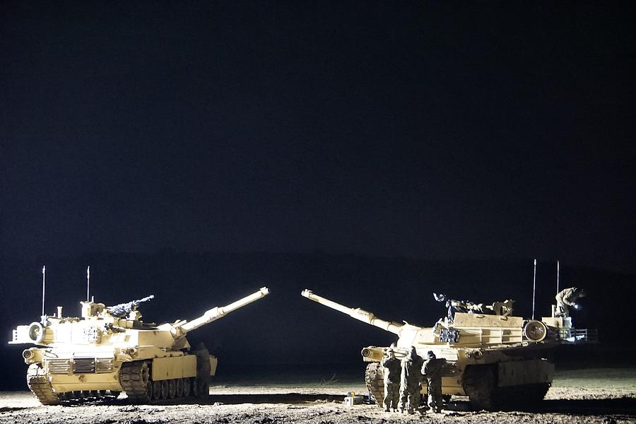 Usmc Photograph - Stars Can Only Shine In Darkness by Thomas Mulvihill