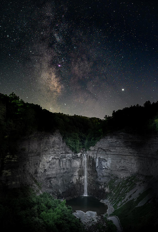Stars over Taughannock Falls by Guy Coniglio