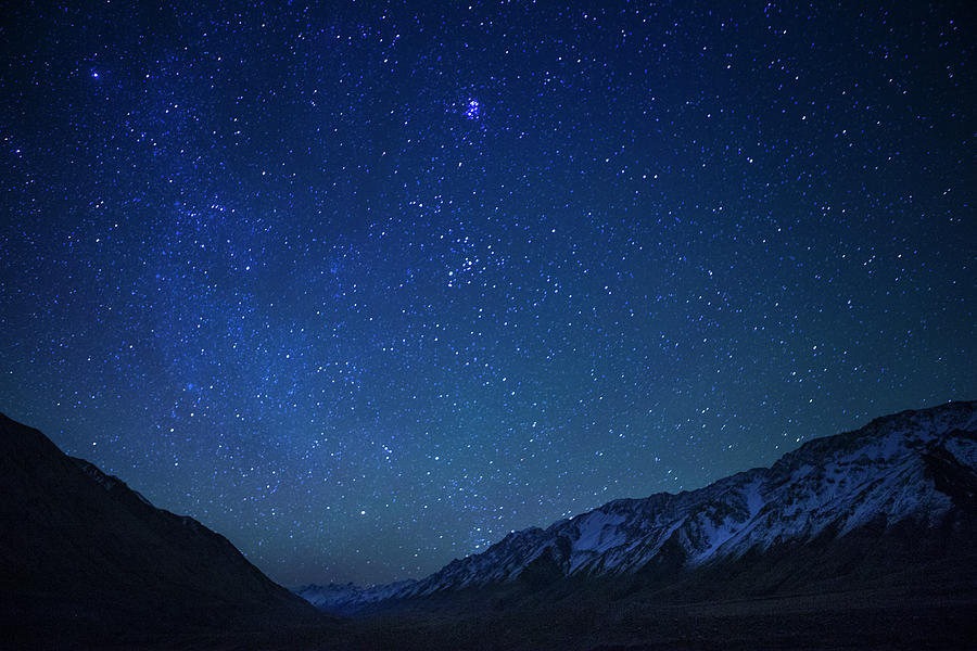 Stars Over Tien Shan Mountains Photograph by Sebastian Kennerknecht