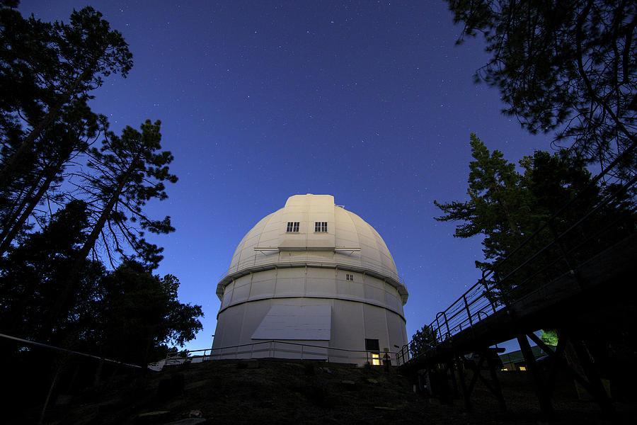 Stars Shine Above Hooker Telescope by Jeff Dai