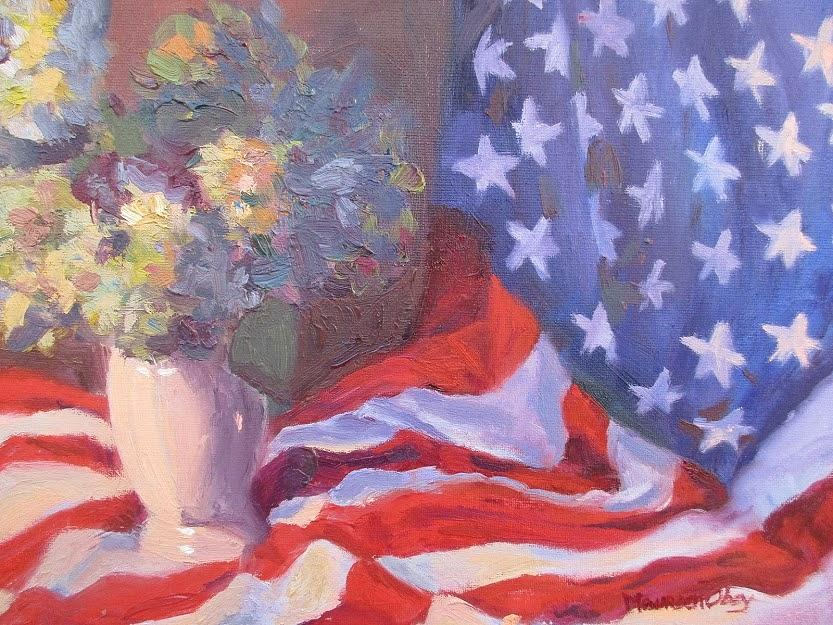 Stars, Stripes and Hydrangas by Maureen Obey