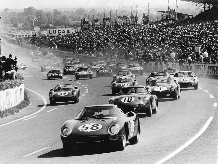 Start Of The Le Mans 24 Hours, France Photograph by Heritage Images