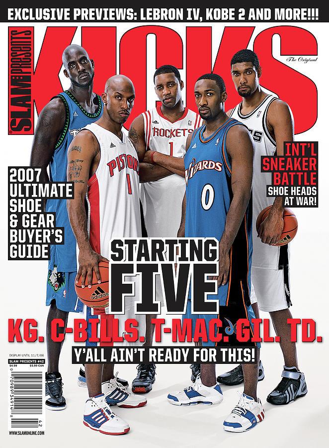 Starting Five: KG. C-Bills. T-Mac. Gil. TD. SLAM Cover Photograph by Atiba Jefferson