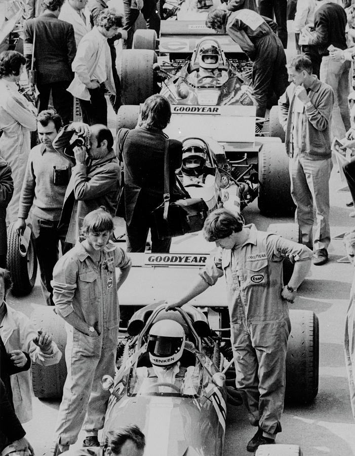 Starting Grid, British Grand Prix Photograph by Heritage Images