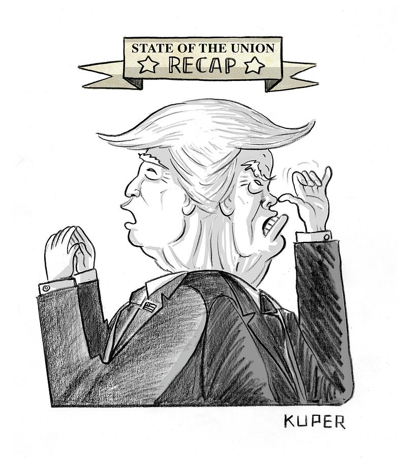 State Of The Union Recap Drawing by Peter Kuper