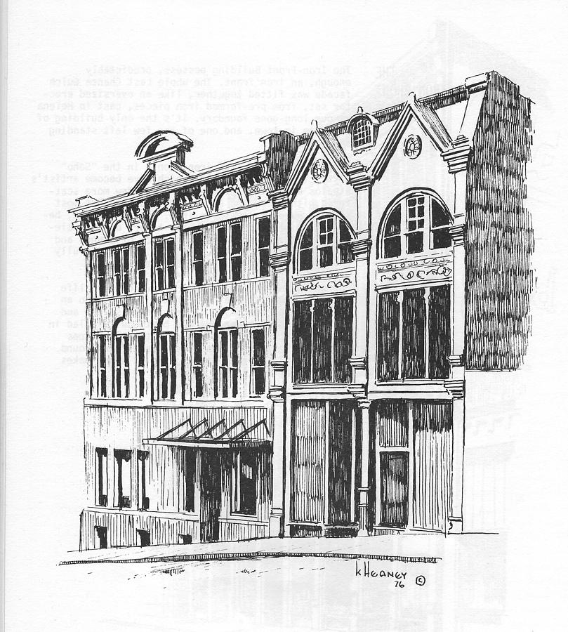 Helena Drawing - State Publishing And Parchen Building Helena Montana by Kevin Heaney