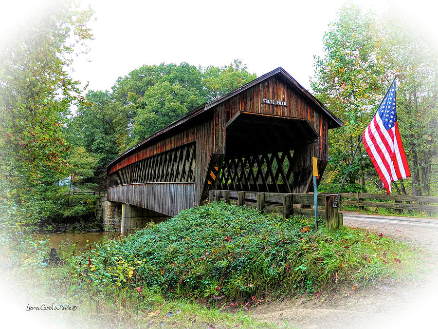 State Road Covered Bridge by Lena Wilhite