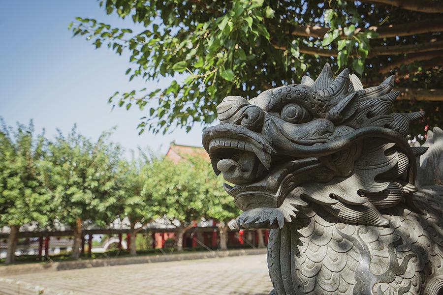Statue at Baguashan Buddha Temple in Changhua City, Taiwan by Craig Bowman