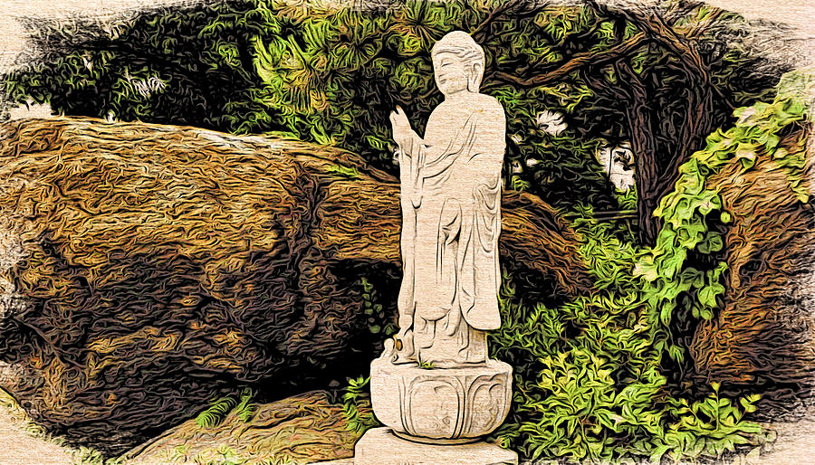 Statue at the Rock by Cameron Wood