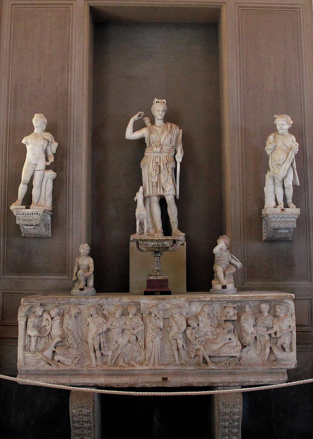 Statue of Huntress Diana or Artemis Collection in the Vatican Museum 1st century AD by Angela Rath