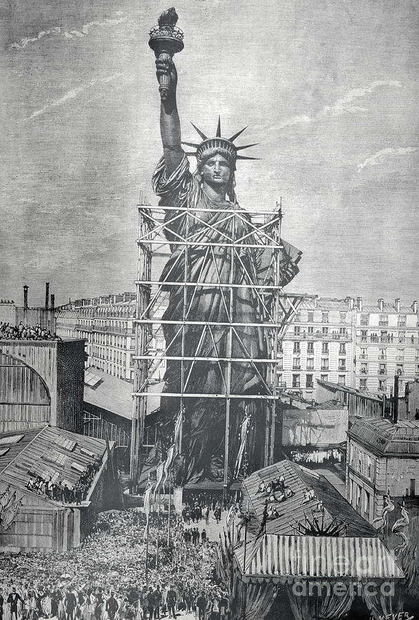 Statue Of Liberty Being Prepared Photograph by Bettmann
