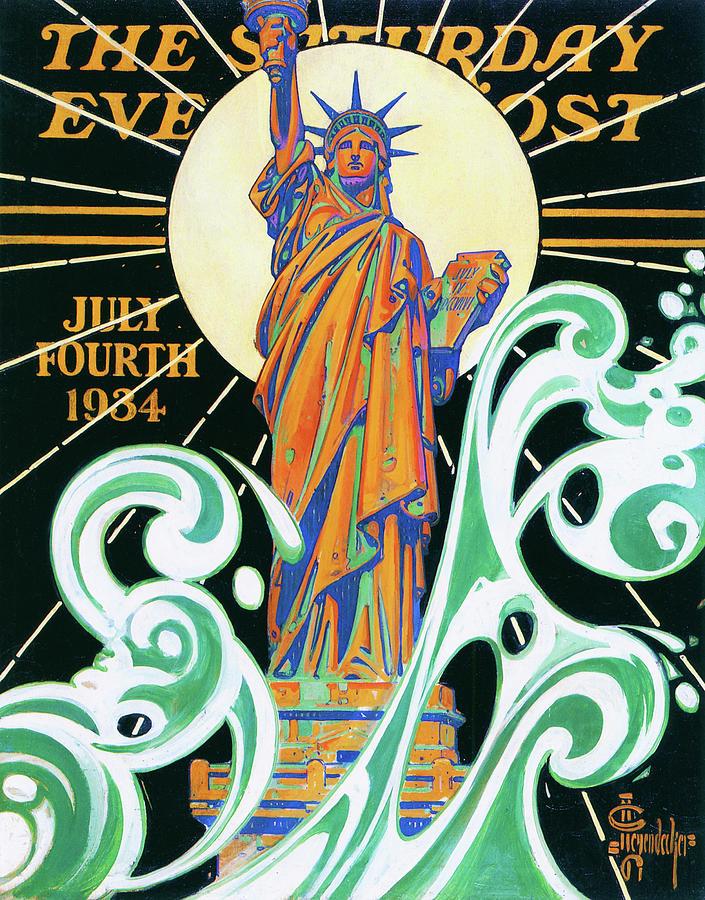 Joseph Christian Leyendecker Painting - Statue Of Liberty - Digital Remastered Edition by Joseph Christian Leyendecker