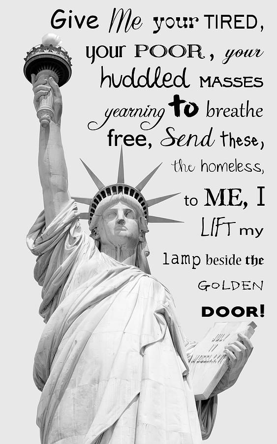 Statue Of Liberty Give Me Your Tired Poor Huddled Masses T Shirt