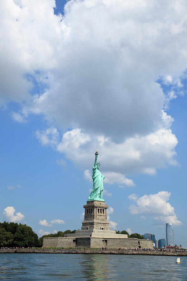 Statue Of Liberty In Upper New York Bay Photograph by Alvis Upitis