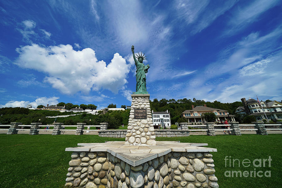 Statue of Liberty Mackinac Island by Rachel Cohen