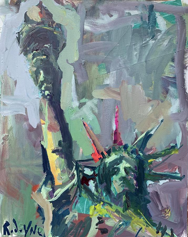 Statue Of Liberty Painting - Statue Of Liberty by Robert Joyner