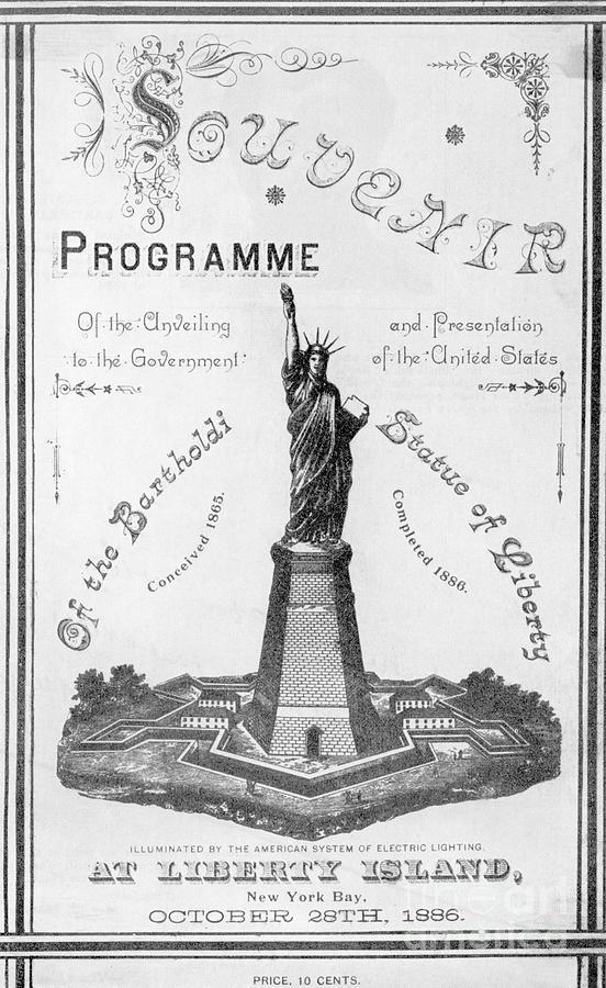 Statue Of Liberty Souvenir Program Photograph by Bettmann