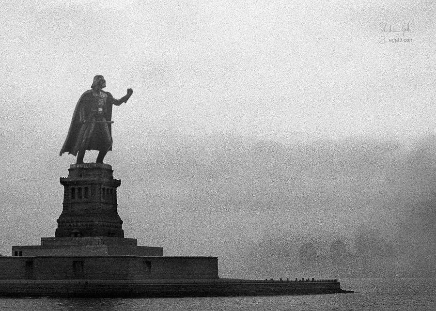 Statue Of Liberty Vader Digital Art