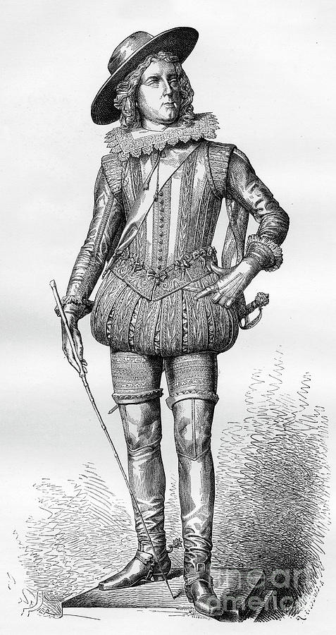 Statue Of Louis Xiii Of France Drawing by Print Collector