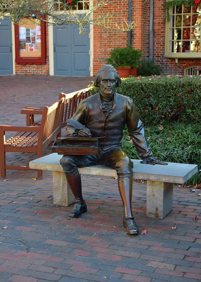 Statute of Thomas Jefferson by Karen Harrison