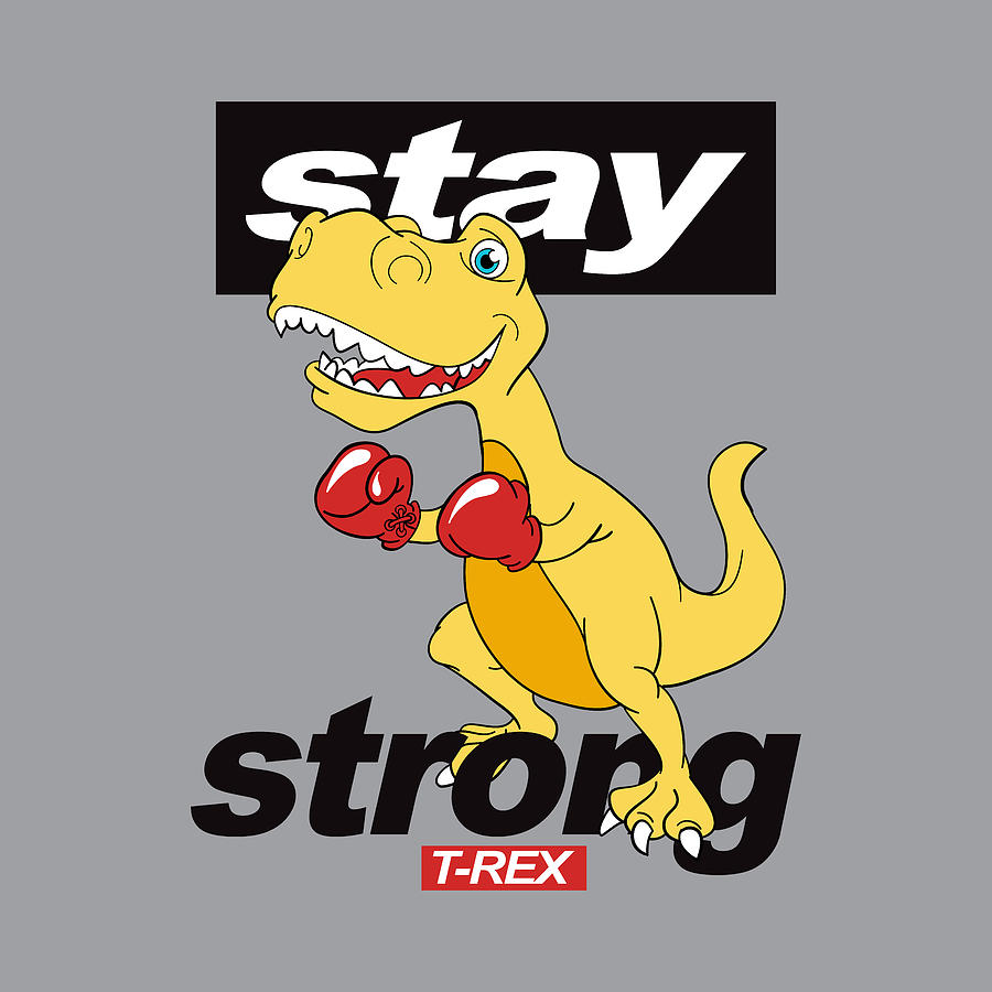 Stay Strong - Baby Room Nursery Art Poster Print by Dadada Shop