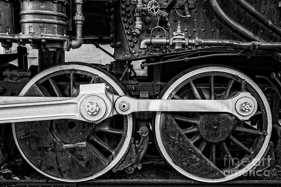 Steel Photograph - Steam Locomotive Detail by Edward Fielding